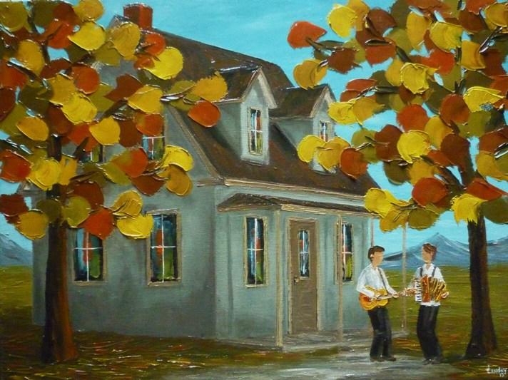 2013-10-45 Douceur d'automne (18x24), Huile à la spatule, 550$
