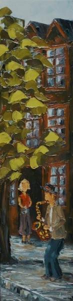 2012-06 Juste pour toi, (24x6), huile à la spatule, Vendu