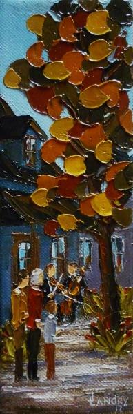 2012-11, Un petit Répit, (9x3) Huile à la spatule, Vendu