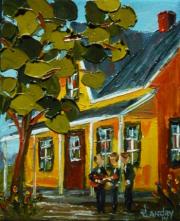 2014-04-05 En attendant (5x4), Huile à la spatule, Vendu