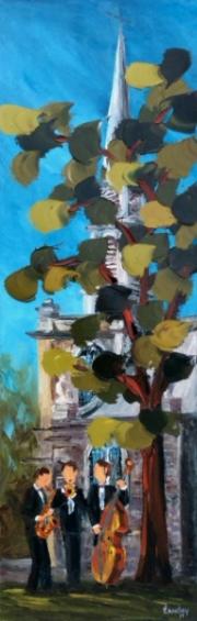 2014-07-11 Majestueux (24x8), Huile à la spatule, Vendu