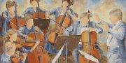 Le maestro (18x36) acrylique sur toile, 700$