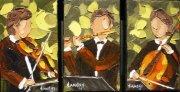 2011-03 Solo de 3 #2 (3 fois 3X5), Huile sur toile, vendu