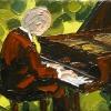 2011-04 Intensité (5X7) Huile sur toile, Vendu