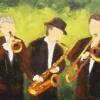 2011-10 Amusons-nous (8x24), Huile à la spatule, Vendu