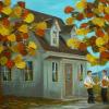 2013-10-45 Douceur d\'automne (18x24), Huile à la spatule, 550$