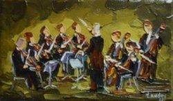 2012-11, La Valse des Archets, (3x5) Huile à la spatule, Vendu