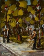 2012-11, Le Manoir, (5x4) Huile à la spatule, Vendu