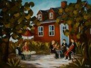 2012-11, L\'Espace d\'un Moment, (30x40) Huile à la spatule, Vendu