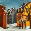 2014-11-24 Féérie du village (18x24) Huile à la spatule, 550$