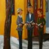 2014-10-20 Vla le bon temps ! (48x12), Huile à la spatule, Vendu