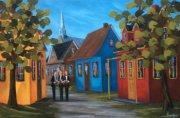 2015-01-02 La chorale du village (20x30), huile à la spatule, Vendu