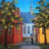 2015-02-04 Le chant des fleurs (30x30), huile à la spatule, Vendu