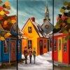 2015-10-18 Le charme des saisons (triptyque 24X36), huile à la spatule, Vendu